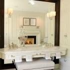 Floating Vanity Oversized Mirror