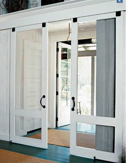 interior sliding screen doors from This Old House via Atticmag