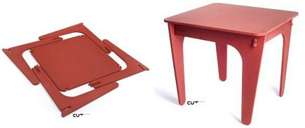 modern flat pack CUT Furniture by Mariana Costa e Silva