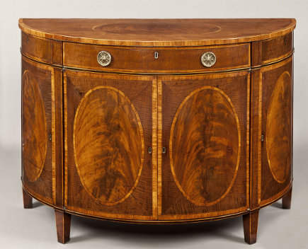 glass ceiling kitchen - antique George III mahogany cabinet from Apter Fredericks via Atticmag