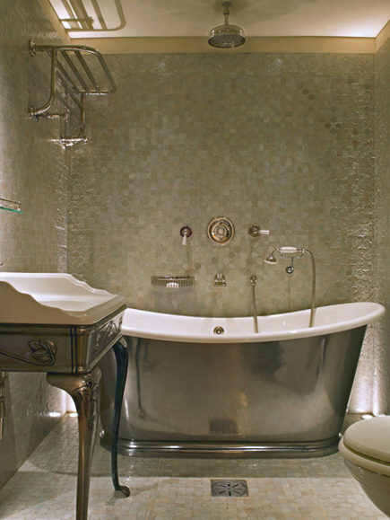 Silver Finish Slipper Bathtubs | Atticmag | Kitchens, Bathrooms ...