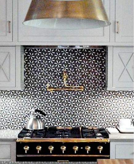 Patterned Tile Backsplashes Sonja La Fleur Stone Mosaic Tile Backsplash Walker Zanger Via Atticmag