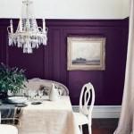 plum purple dining room walls with white trim - flickr via atticmag