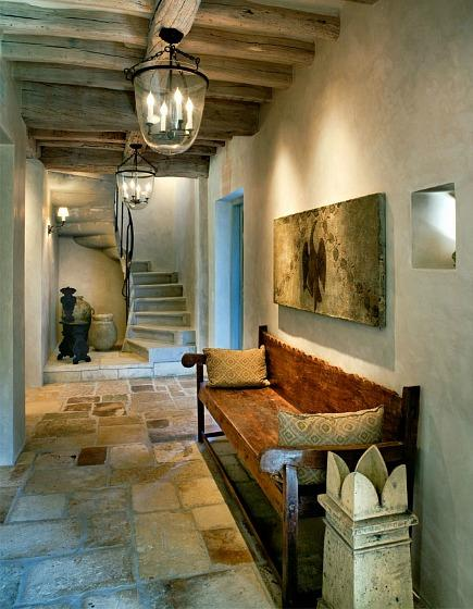 interior stone flooring - reclaimed Jerusalem limestone flooring - Oz Architects via Atticmag