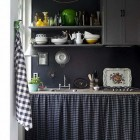 Black and White Patterned Kitchen