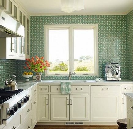 Charming Bold Green Kitchens