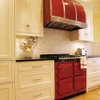 Red Aga Kitchen