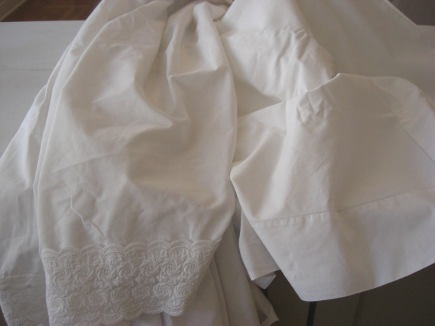 sheets used for the laundry detergent test drive