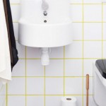 yellow tile grout - white bathroom tile with yellow grout