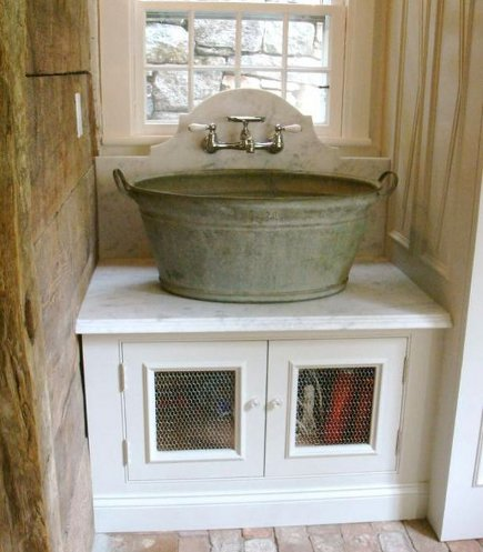 Washtub Sink Laundry Room | Atticmag | Kitchens, Bathrooms ...