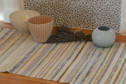 Scandinavian home décor - ceramic vases bowls and woven rag rugs from Scandinavian Made via Atticmag
