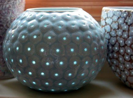 scandinavian home decor porcelain light catcher bowl by Hanne Bertelsen via Atticmag