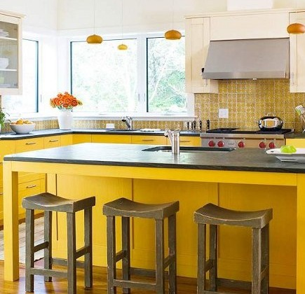 Lemon Yellow Kitchen