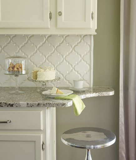 Small Space Kitchen Eating Bar Alert! Sculpt The End Of The Stone To Create  A Kitchen Corner Seat.