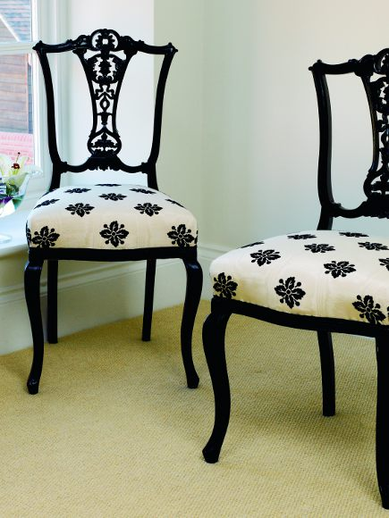 Reupholstered salon chairs from The Upholsterer's Handbook