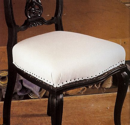 side chair covered with calico from The Upholsterer's Handbook