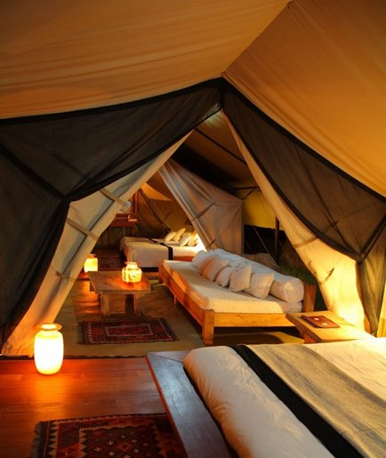 turn an attic space into a luxury tent retreat