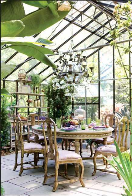 greenhouse rooms - sunroom at the 40th Atlanta Decorator's Show House - shadestonehome via atticmag