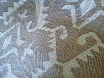 native american inspired fabric - Joe Ruggiero's Native fabric in Wren for Sunbrella - Joe Ruggiero via Atticmag