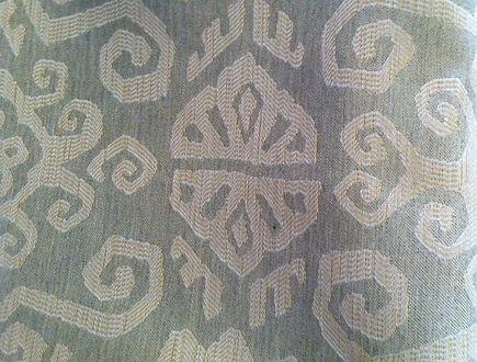 native american inspired fabric - Joe Ruggiero's Tribal fabric in Pumice for Sunbrella - Joe Ruggiero via Atticmag