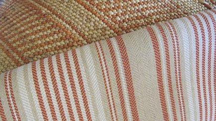 native american inspired fabric - Lagos fabric in Chili by Joe Ruggiero for Sunbrella - Casual Living via Atticmag