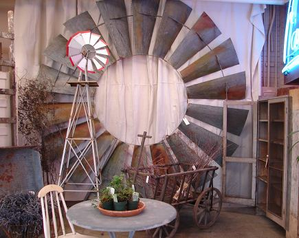 vintage windmill wheel