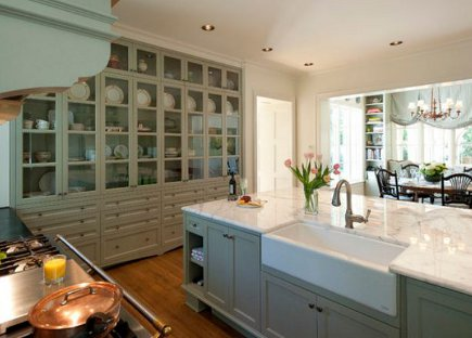 Mega Storage Kitchen Cabinets   Massive China Storage Cabinet In A Texas  Kitchen   Vfinehomes Via Another View Of The Cabinet Wall ...