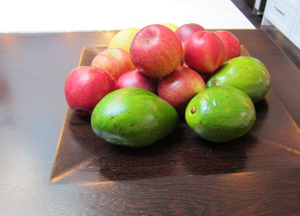 fruit bowl carved in the surface of the kitchen counter in Mick De Giulio's Kitchen of the Year for House Beautiful