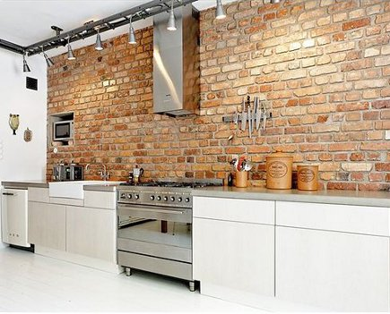 Brick Walls in Kitchens | Atticmag | Kitchens, Bathrooms, Interior