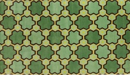 geometric patterned rugs - hand knotted wool rug by Vanderhurd