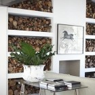 Interior Firewood Storage