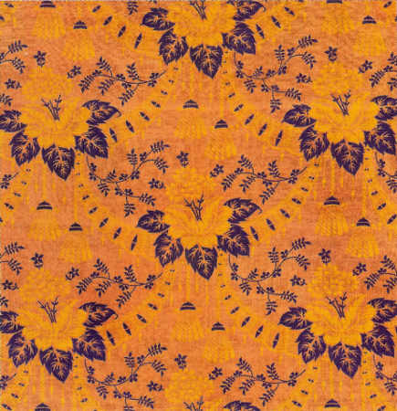 Early 20th century Russian floral textile