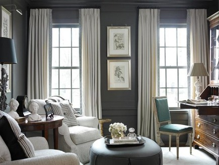gray and white sitting room by amy d morris