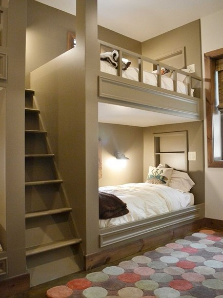 custom built-in bunk beds by Resort Custom Homes