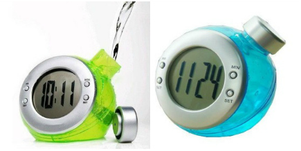eco friendly water powered alarm clock