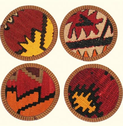 home décor gift ideas - Kilim coaster from Rug & Relic via atticmag