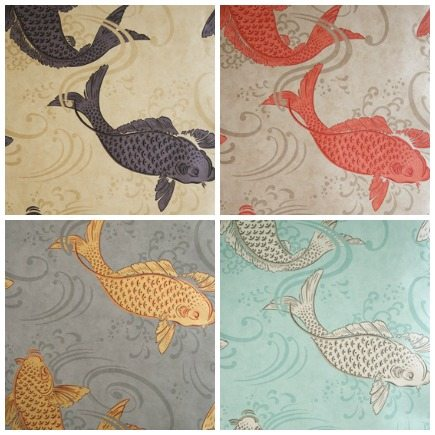Osborne & Little Derwent koi wallpaper - Osborne & Little via Atticmag