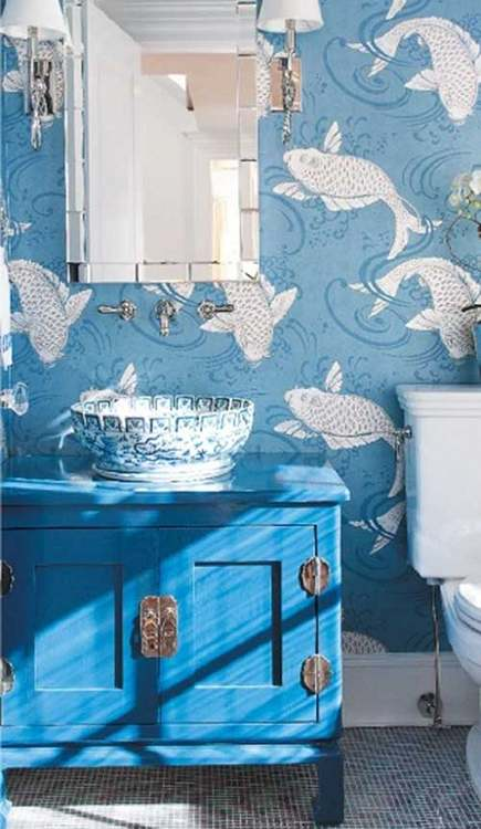 Osborne & Little Derwent koi wallpaper