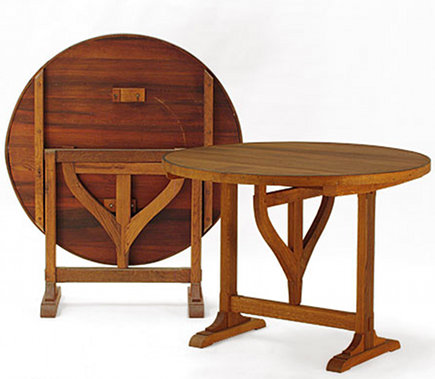 tilt top wine tasting table by Whit McLeod