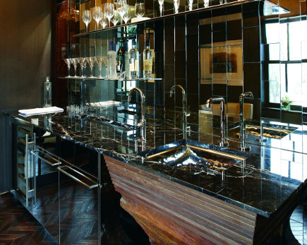 Crystal Clear inspiration room bar by Mick DeGiulio at Kohler