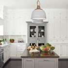 Antique Gray Hutch Kitchen