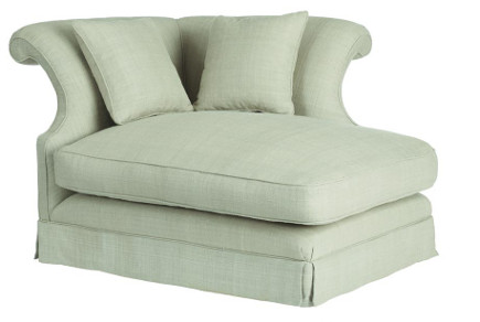 accent colors - maggiore chaise in eau de nil from okadirect via atticmag