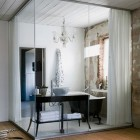 Interior Glass Wall Bath