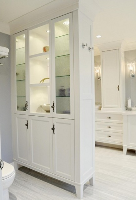 Bathroom Cabinets Floor To Ceiling bathroom screening ideas