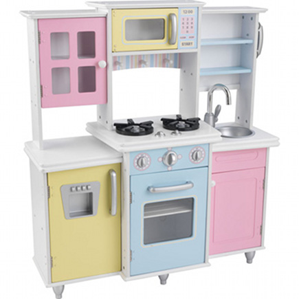 play kitchens multi-color Master Cooks pretend kitchen by KidKraft - via atticmag