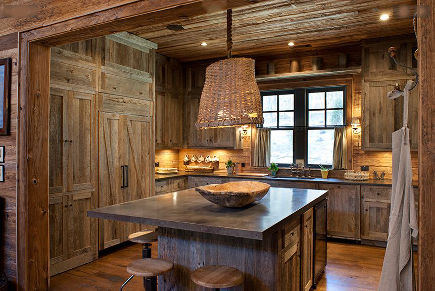 Marvelous Barnwood Kitchens By The Barnwood Cabinet Company Via Atticmag