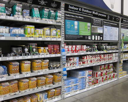 LED light bulbs - Lightbulb aisle at Lowe's - atticmag