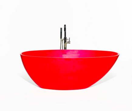 Blu Collection red quartize bath tub