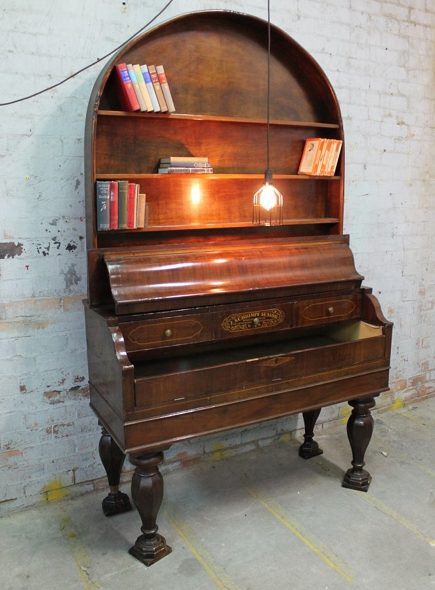 repurposed piano - vintage Austrian organ remade into bookshelves - fat shack vintage via atticmag