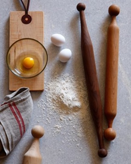 vintage inspired rolling pins and cutting boards from Minam